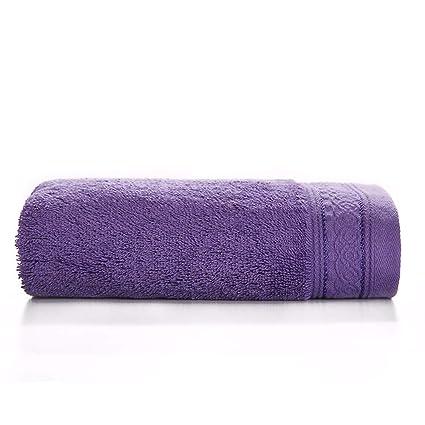 SYXLTSH Toalla de baño algodón Adulto Suave Absorbente Pareja niños Color sólido Conjunto, púrpura B