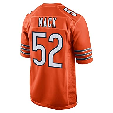 fddd3b692 Image Unavailable. Image not available for. Color  Majestic Sport Men s  Chicago Bears  52 Khalil Mack Orange Embroidered Name   Number Jersey