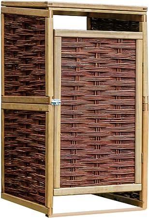 ghuanton Cobertizo Individual para contenedor de Basura de Pino y mimbreCasa y jardín Productos del hogar Accesorios para contenedores de residuos Soportes para contenedores de residuos: Amazon.es: Hogar