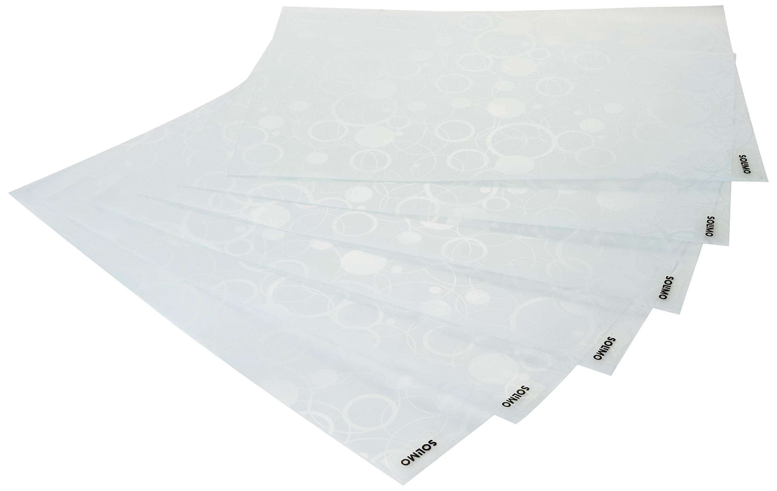 Amazon Brand - Solimo PVC Fridge Multipurpose Mat, Circles, Set of 6, White (B07QSBC78Y) Amazon Price History, Amazon Price Tracker