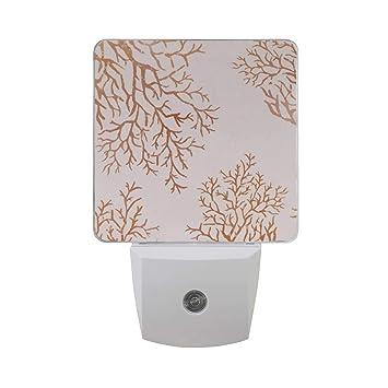 Amazoncom Coral Customize 2pcs Plug In Led Night Lights Auto
