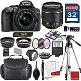 Nikon D5300 DX-format Digital SLR w/AF-P DX NIKKOR 18-55mm f/3.5-5.6G VR Lens + Professional Accessory Bundle