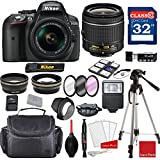 Cheap Nikon D5300 DX-format Digital SLR w/AF-P DX NIKKOR 18-55mm f/3.5-5.6G VR Lens + Professional Accessory Bundle
