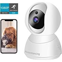 Wireless Dog Camera 1080P FHD, WiFi Pet Camera and Two Way Audio, Indoor Cat Camera and…