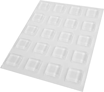 2 X 9PK SELF ADHESIVE CLEAR RUBBER FEET BUMPERS SQUARE CLLINDRICAL SHAPE