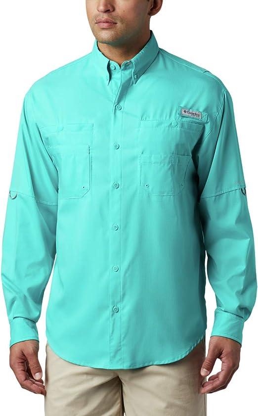 Columbia Men/'s PFG Tamiami II Long Sleeve Shirt /— Tall Red Spark 5XT