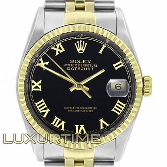 Rolex Datejust 16233 - Reloj analógico de cuarzo (certificado de autenticidad)