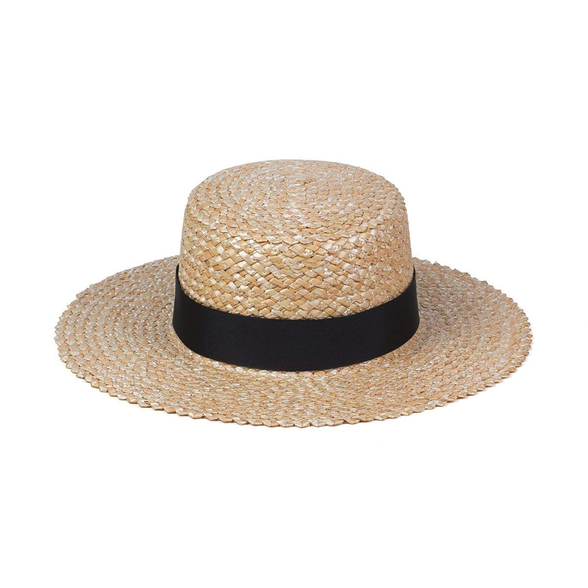 Lack of Color Women's Rico Straw Boater Sun Hat (Natural, Medium (57 cm))