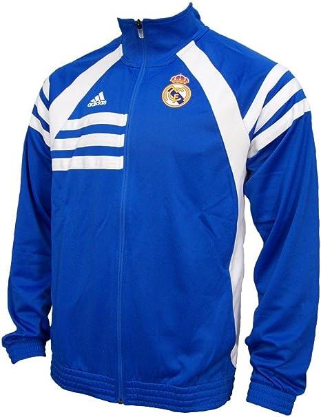 Adidas real madrid jacket veste bleublanc d80311 ***mieux