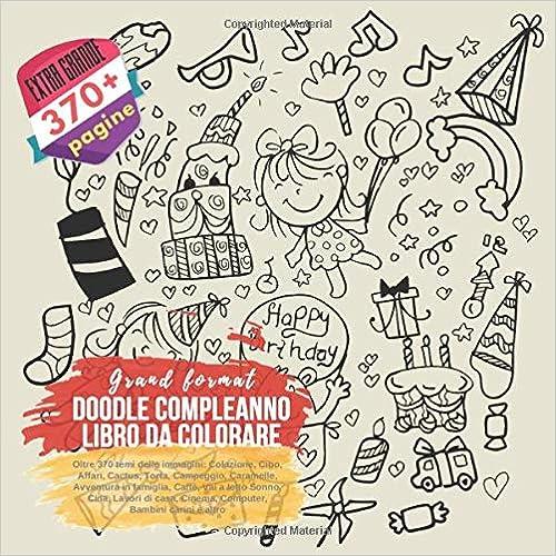 Amazoncom Doodle Compleanno Libro Da Colorare Grand Format Oltre