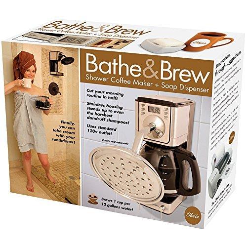 Price comparison product image Novelty Prank Gift Box Bathe & Brew Coffee Maker Showerhead & Soap Dispenser