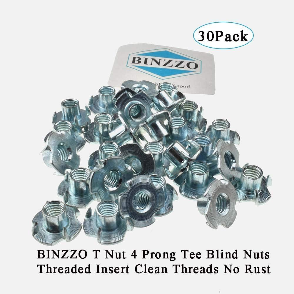 Boîte de 12 M8 x 11 mm Tee Nuts Captive écrou Quatre Volets * top qualité! Bois