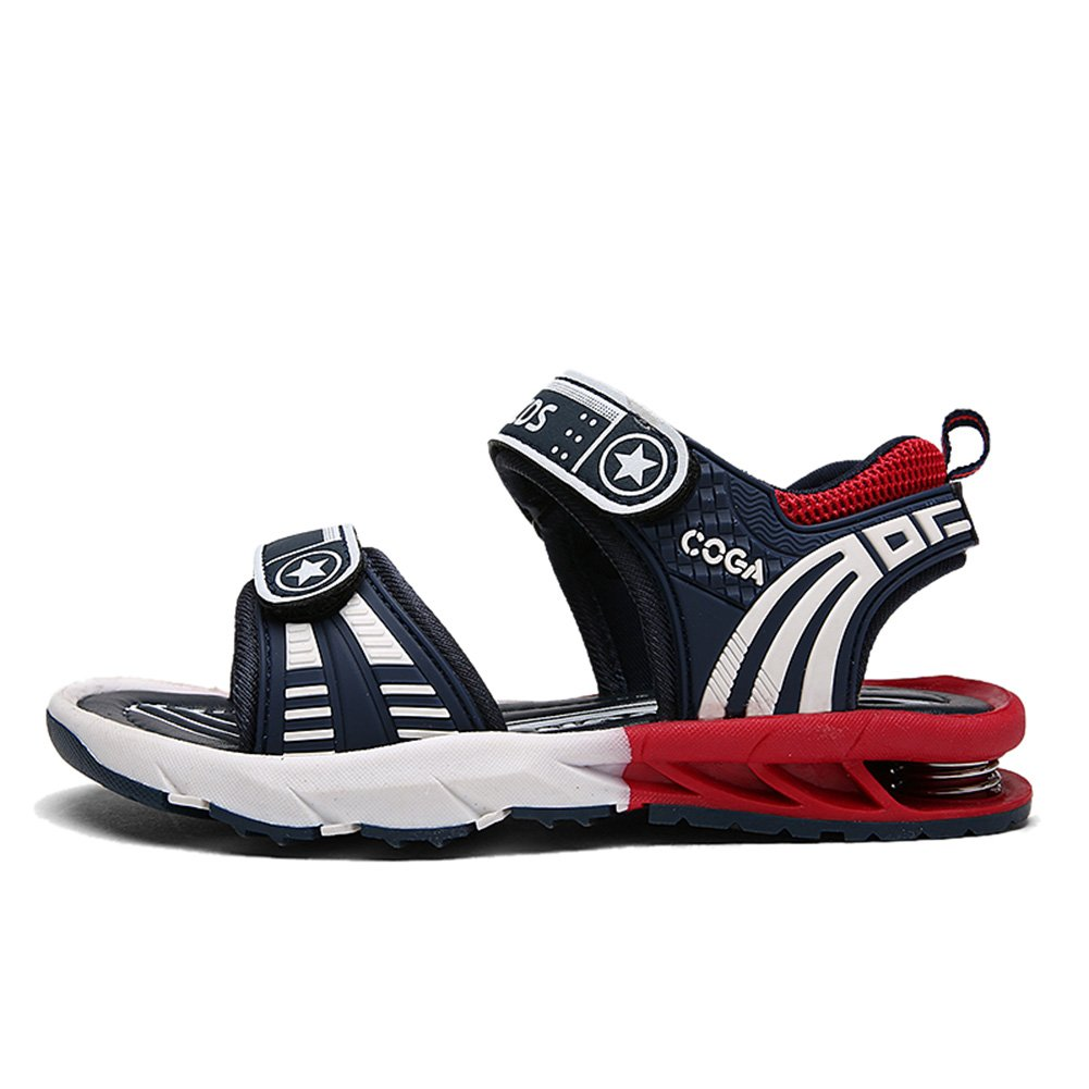 AGOWOO Boys Casual Summer Walking Beach Sandals Navy 30 12 M Little Kid