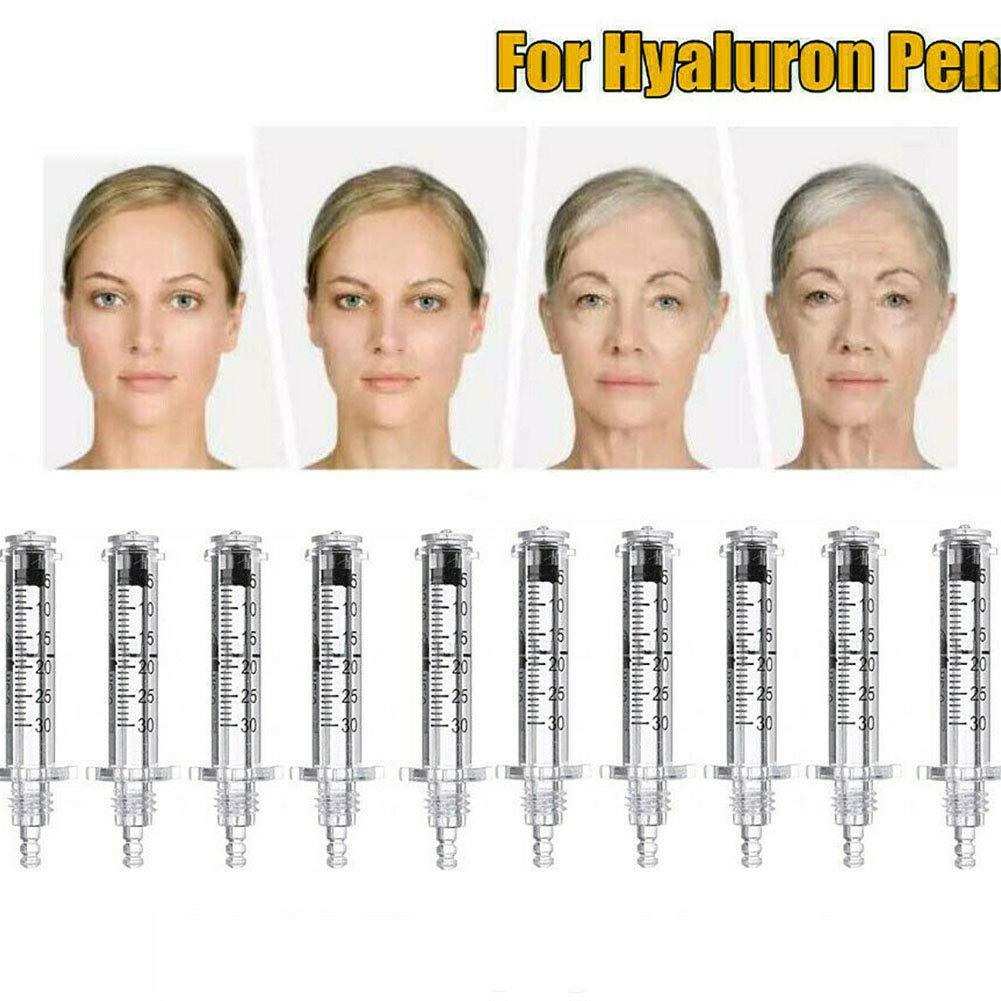 QIYE 102Pcs 0.3Ml Ampoule Syringes for Hyaluronic Pen High Pressure Wrinkle Removal Water Syringe