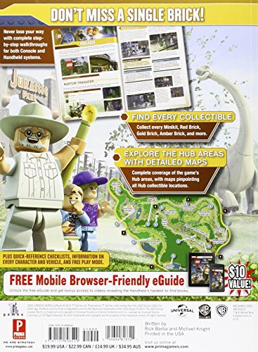 Lego jurassic world prima official game guide raging gazebo lego jurassic world prima official game guide gumiabroncs Choice Image