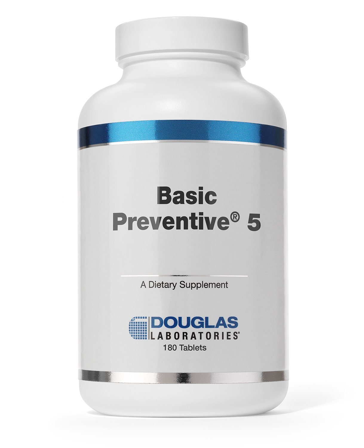 Douglas Laboratories - Basic Preventive 5 - Iron-Free Highly Concentrated Vitamin/Mineral / Trace Element Supplement with Antioxidants - 180 Tablets