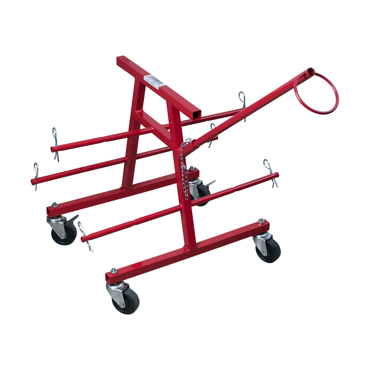 Gardner Bender WSP-115 Portable Electrical Wire Caddy w/ Casters, Dispenses 6 500 Ft. Spools, 10-6 Wire Gauge (AWG) or 12 7 Inch. X 5 Inch Wire Reels, Red