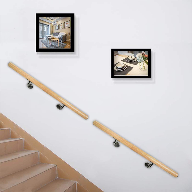 parapetti supporto da parete balconi a parete MCTECH corrimano in acciaio inox 100cm per scale interne ed esterne 100cm con connettore, Acciaio inossidabile