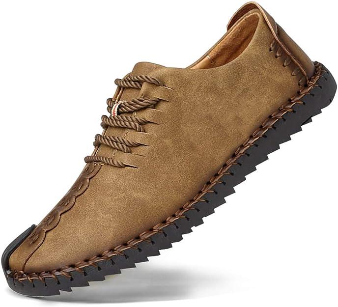 Zapatos de cuero casual de los hombres Zapatos Planos con Cordones hombre Oxford vestido mocasines zapatos de negocios hechos a mano mocasines de conducción de zapatos