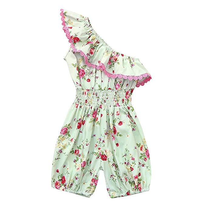 Girls Cotton Floral Romper Outfit Summer Beach Fashion 12m 2t 3t 4t Pink