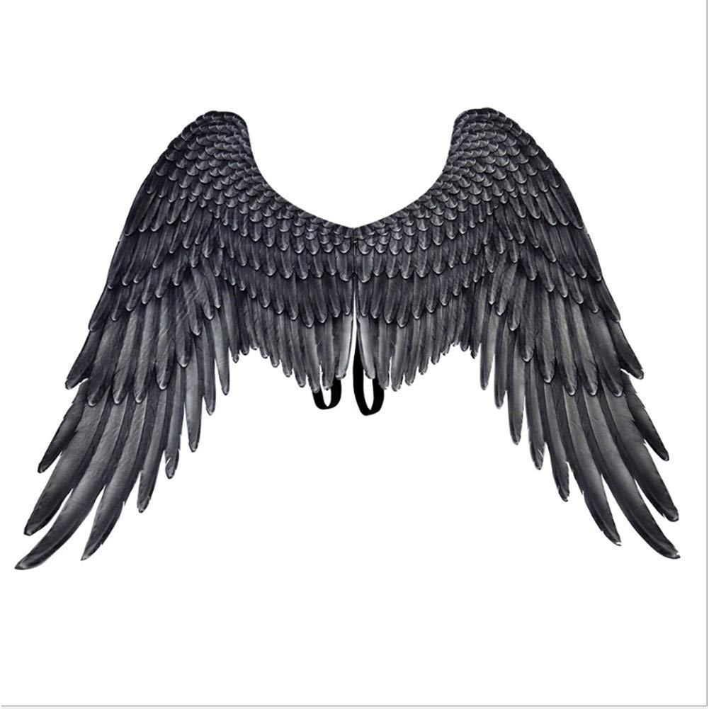 Proumhang Carnevale Mardi Gras Unisex Halloween Oversize Bianco Angel Wings Paint On Cloth 45*75*105cm