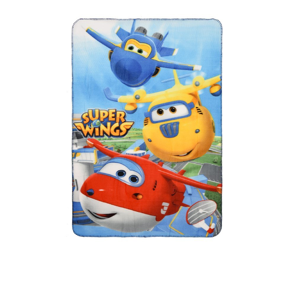Super Wings Kids Fleece Blanket 100 x 150 cm (Light Blue) Sun City