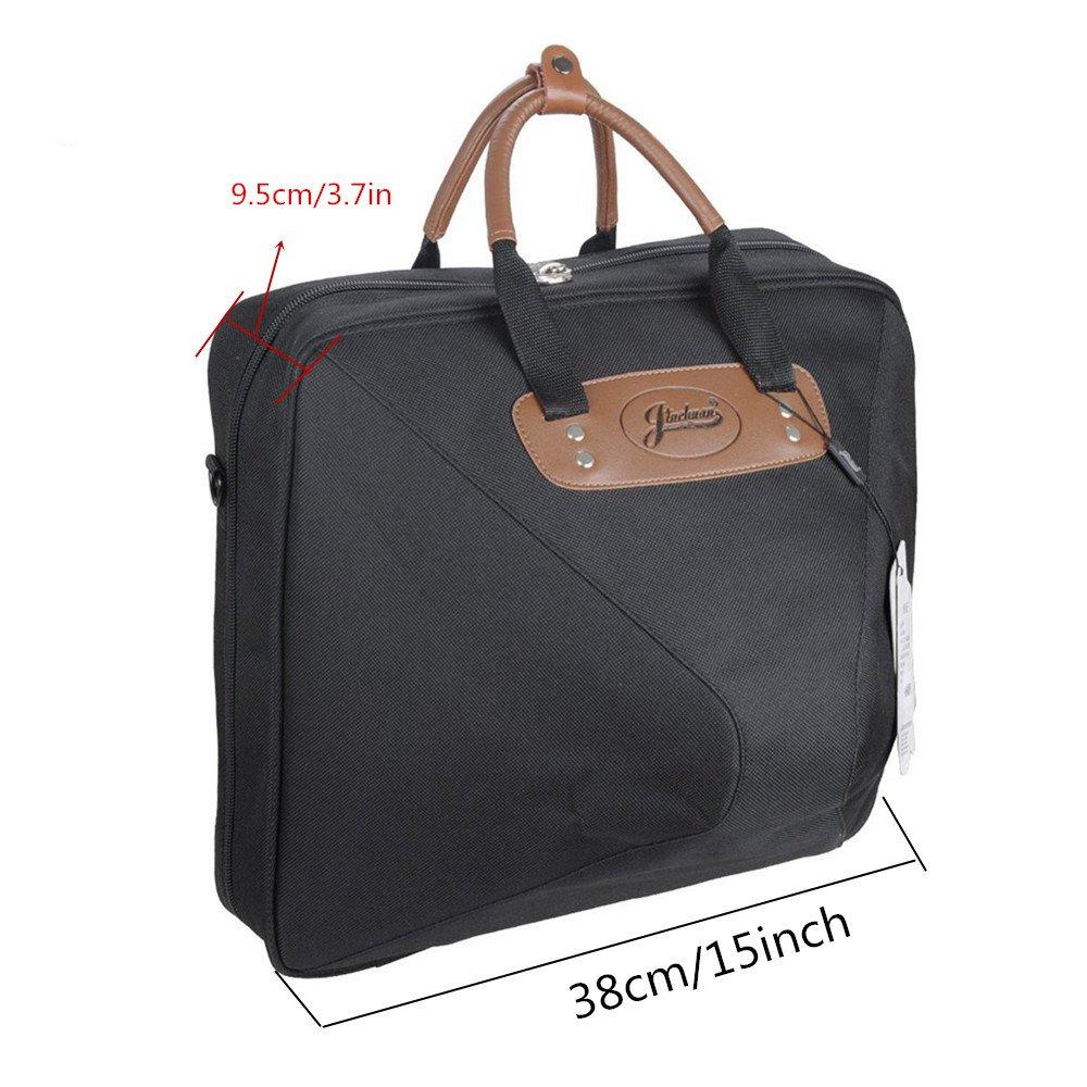 Jinchuan Deluxe French Horn Gig Bag Case Light Weight High Density Foam Padding E-6A Black by Jinchuan (Image #4)