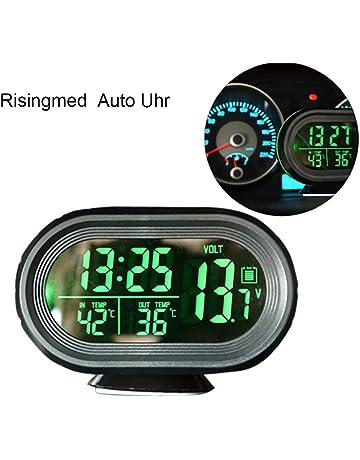 Thermometer mit Saugnapf BIlinli Mini 2 in 1 LCD Digital Auto Auto LKW Uhr
