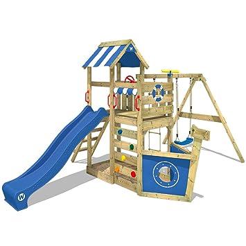 Wickey Spielturm Seaflyer Spielgerat Garten Kletterturm Mit Schaukel