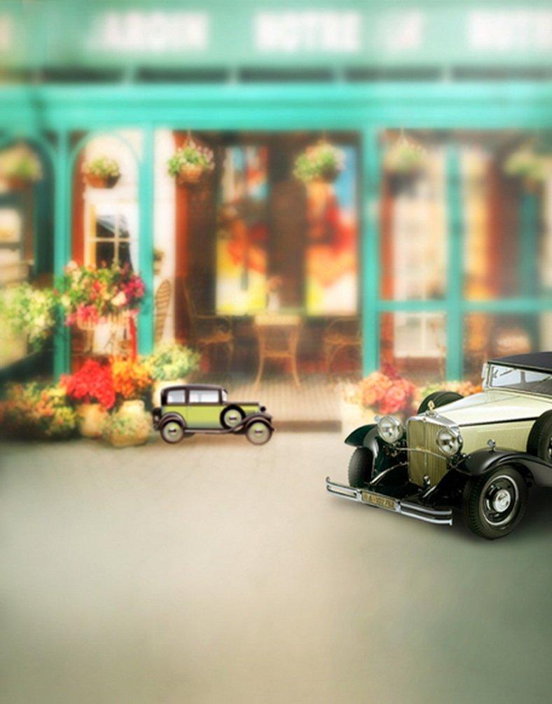 ショップ車写真Backdrops写真小道具Studio背景5 x 7ft   B01HQDWHLS