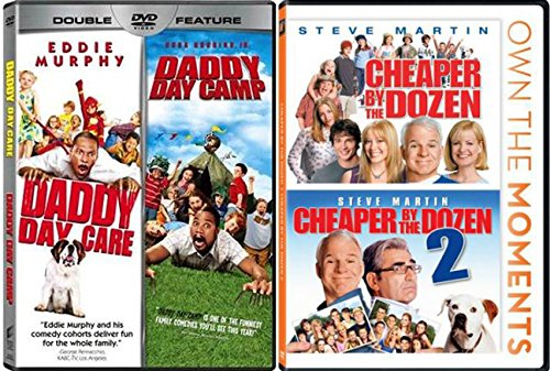 Cheaper By The Dozen & Daddy Daycare 4 film Family set Cheaper By The Dozen 2 movie Daddy Day Camp DVD Set (4-Pack) Own the Moments