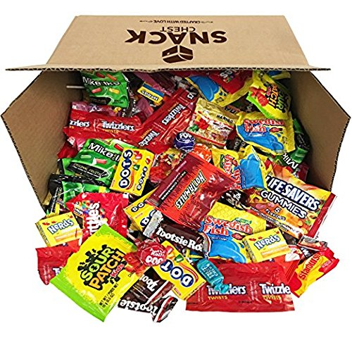 Candy Bulk Assortment Includes Tootsie Rolls Twizzlers Nerds Swedish Fish Sour Patch Skittles Starburst (96 (Mr Pipes Halloween)