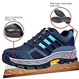 GUDUN Breathable Unisex Steel Toe Boots Men's Comp Steel Toe Boots Steel Toe Safety Work Shoes Hiking Boot Logging Lumber Steel Toe Shoes(Check feet Length to Choose Size) (44, GD13)