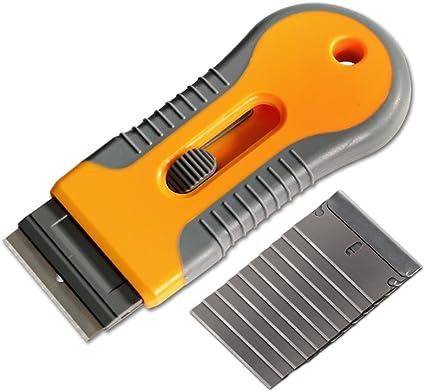 Rasqueta de afeitar + 10 cuchillas de acero herramientas de tinte ...