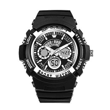 FW-TT Smart Watch, para Hombre Relojes Reloj Deportivo Digital con Doble Horarios Movimiento Multifunciones Alarma Cronómetro Calendario Analógico Relojes ...