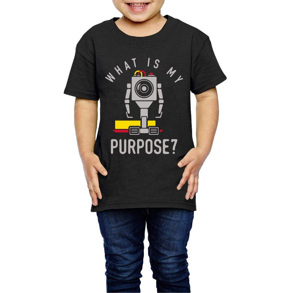 XYMYFC-E What is My Purpose 2-6 Years Old Kids Short Sleeve T Shirt