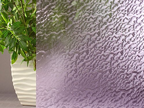 Lavender Rippled, Decorative, Privacy, Static Cling Window Film (35''x25ft) by Window Film and More (Image #2)