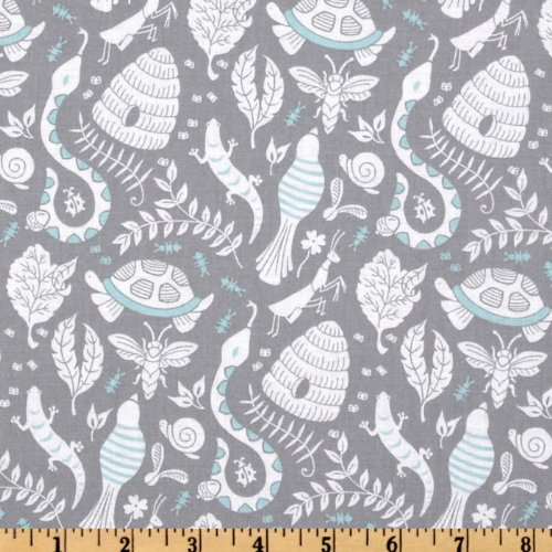 Michael Miller Backyard Baby Backyard Party Grey Fabric   Buy Online In  Oman. | Products In Oman   See Prices, Reviews And Free Delivery In Muscat,  Seeb, ...