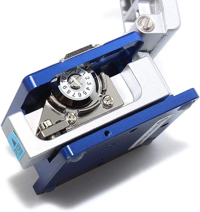 DAXGD Outil fibre optique 5 en 1 FTTH /épissure Fibre Optique Kits doutils D/écapant de fibre FC-6S Fibre Cleaver Localisateur Visuel de d/éfaut