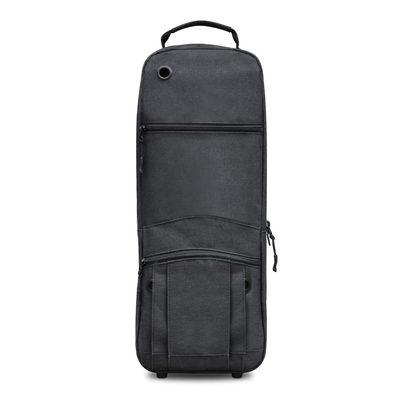 Healvaluefit Oxygen Tank Backpack O2 Cylinder Carrying Holder Bag for Tank D/M-15, JD/M-22 (Black)