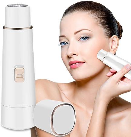 Fixget Depiladora Facial Mujer,Afeitadora Recortador Eléctrico ...