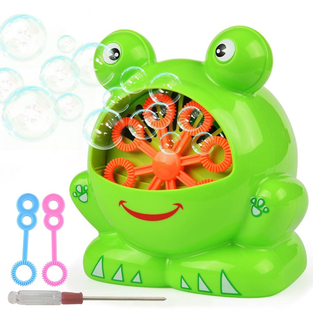 Bubble Machine for Kids Automatic Bubble Maker Machine Toys with High Output Over 500 Bubbles Per Minute Birthday Party Wedding Indoor and Outdoor Games Battery Operated Not Include