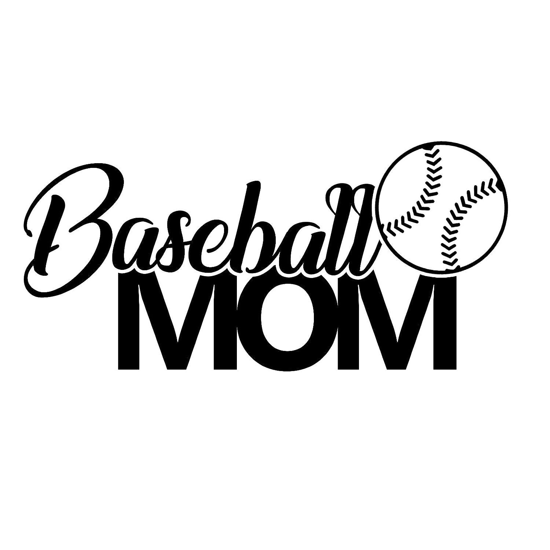 Baseball Mom Sports Vinyl 6 Inch Decal