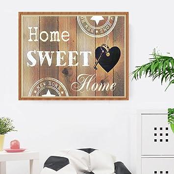 Home Sweet Home 5D DIY Full Drill Diamond Painting Cross Stitch Needlework Neu