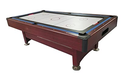 Pool Central Recreational 2 In 1 Pool Billiards And Air Hockey Game Table,