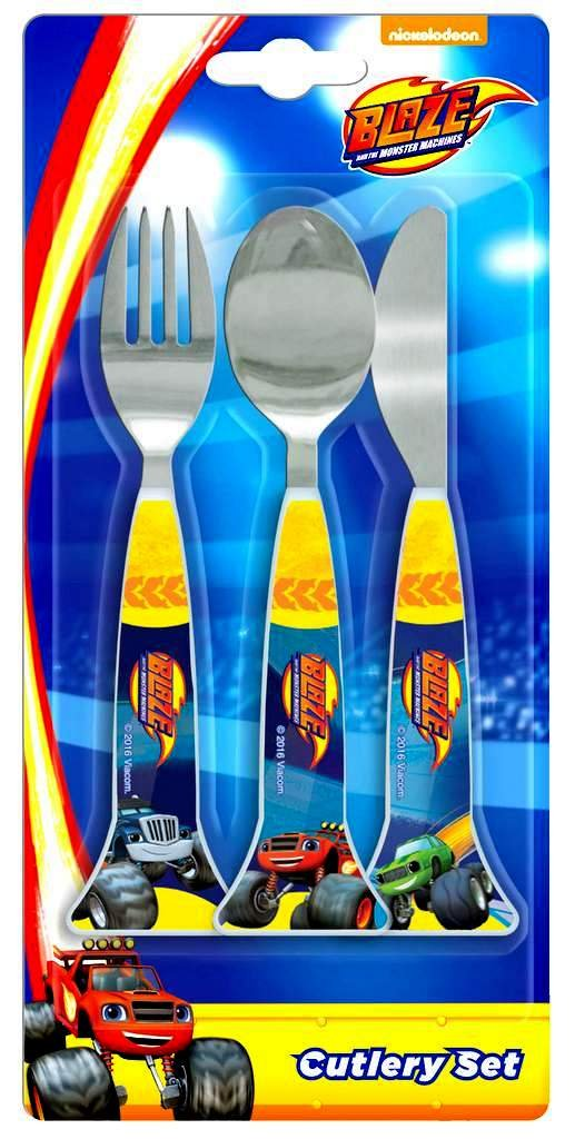 Blaze and the Monster Machines 3 Piece Cutlery Set | Knife, Fork and Spoon Spearmark