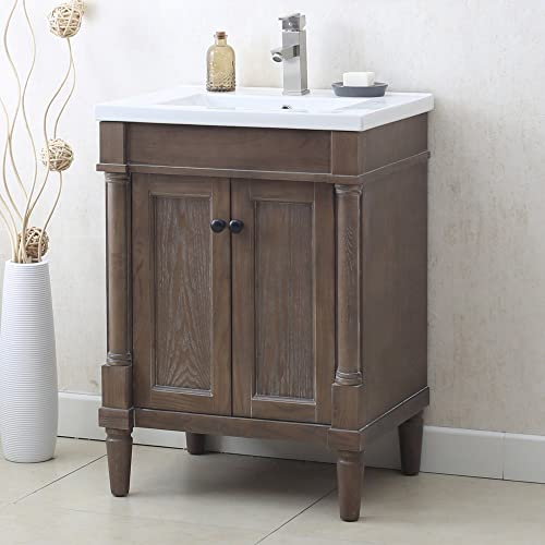 Legion Furniture WLF7021-24 24 WEATHERED GRAY SINK VANITY