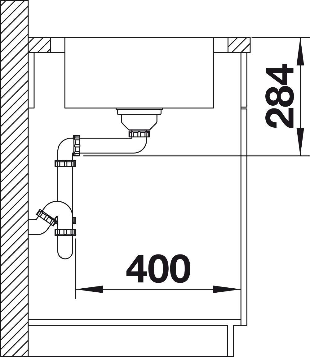 Blanco DINAS 525123 Kitchen Sink Brushed Stainless Steel