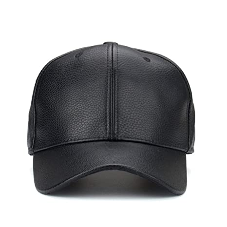 9b81595656f Buy Handcuffs Stylish Leather PU Leather Hip Hop Cap (Black) Online at Low  Prices in India - Amazon.in