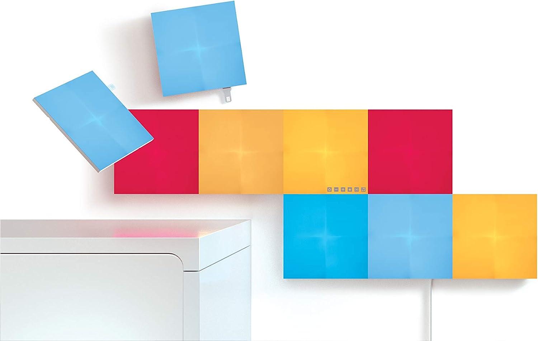 NANOLEAF NL29-0002SW-9PK Panneaux Lumineux Carrés Intelligents, Plastique, 9 W, Blanc